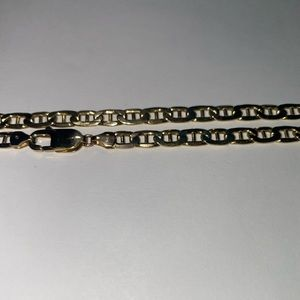 """10K Solid Gold 22"""" Gucci Link Chain"""